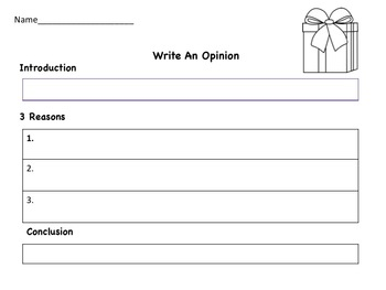 Christmas Opinion Writing Pack