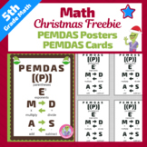 Order of Operations Poster - PEMDAS Poster - Christmas
