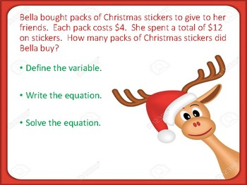 Christmas Order of Operations Review Scavenger Hunt