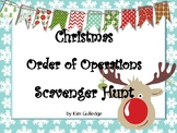 Christmas Order of Operations Scavenger Hunt - Around the