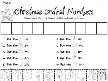 Christmas Ordinal Numbers
