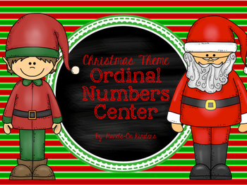 Christmas Ordinal Numbers Center