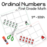 Christmas Ordinal Numbers Cut and Paste Worksheets