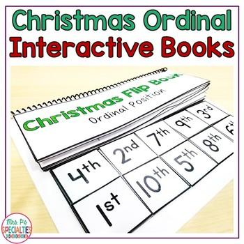 Christmas Ordinal Position Flip Book ( Interactive Book For Special Education )