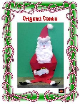 Christmas Origami Santa Art Project