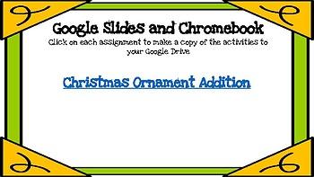 Christmas Ornament 3 Digit Addition-A Digital Math Center