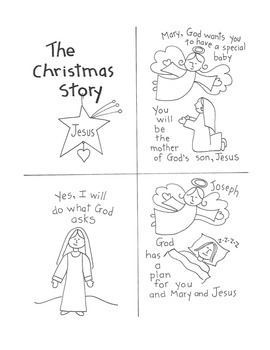 Christmas Ornament Activity and Nativity Story