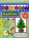 Christmas Ornament Addition Math Center