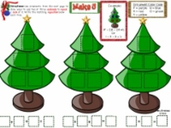 Christmas Ornament Addition Math Center