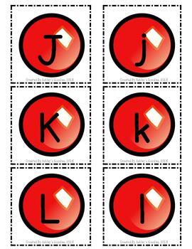 Christmas Ornament Alphabet Cards