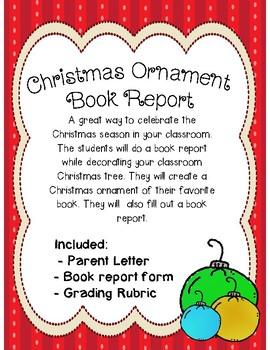 Christmas Ornament Book Report