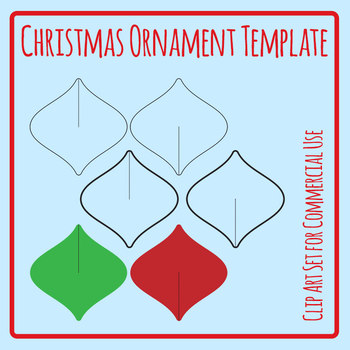 Christmas Ornament Cardboard Cut Out Decoration Template Craft Clip Art Set