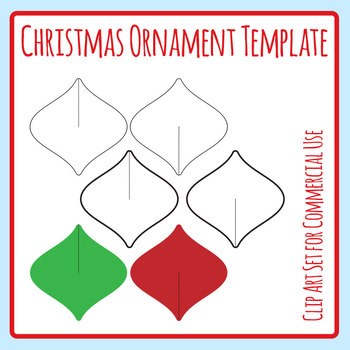 Christmas Ornament Cardboard Cut Out Decoration Template Craft Clip Art Set
