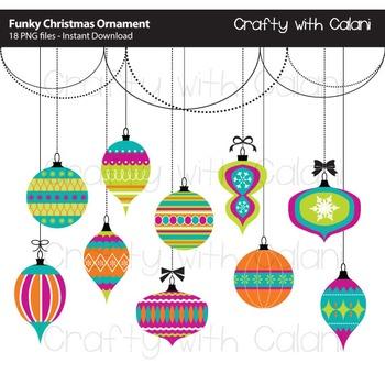 Christmas Ornament Clip Art, Funky Christmas Ornaments, Christmas Art & Craft