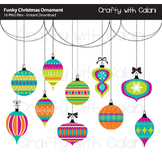 Christmas Ornament Clip Art, Funky Christmas Ornaments, Christmas Art & Craft