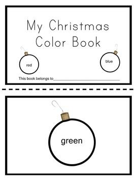 Christmas Ornament Color Book