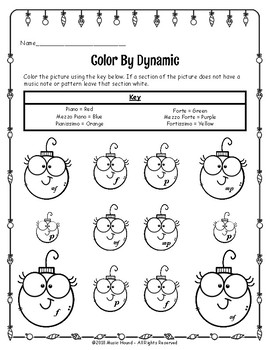 Christmas Ornament Color By Dynamic
