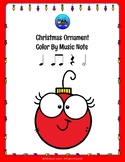 Christmas Ornament Color By Music Note Rhythm Coloring - Half Note