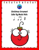 Christmas Ornament Color By Music Note Rhythm Coloring - Quarter Rest