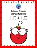 Christmas Ornament Color By Music Note Rhythm Coloring - Sixteenth Notes