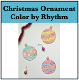 Christmas Ornament Color by Rhythm - 5 Ornament Designs!