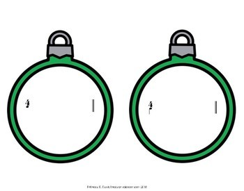 Christmas Ornament Composition Activity