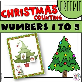 Christmas Counting Game: Numbers 1 to 5