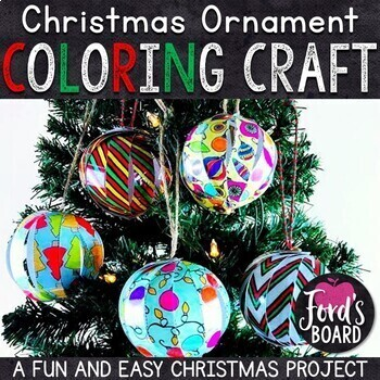 Christmas Ornament Craft | Christmas Ornaments to Color