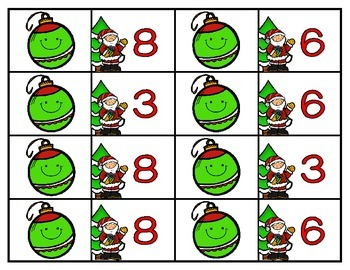 Christmas Ornament Division {A Math Division Concentration Game}
