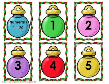 Christmas Ornament Early Math Concepts Bang Game
