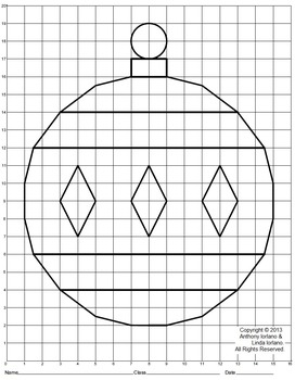 Christmas Ornament (Elementary), Coordinate Drawing & Graphing, Mystery Picture