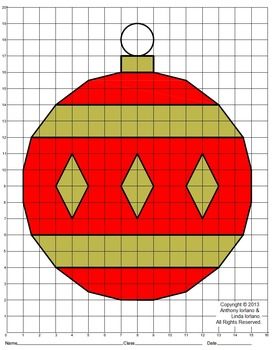 Christmas Ornament (Elementary), Coordinate Drawing & Grap