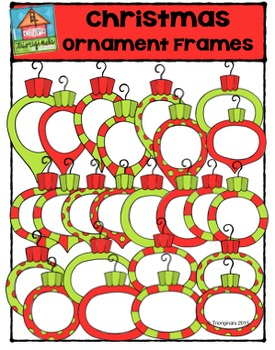 Christmas Ornament Frames {P4 Clips Trioriginals Digital CLip Art}