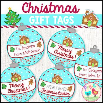 Christmas Ornament Gift Tags