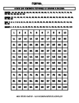 Christmas Ornament Hundreds Chart Hidden Picture Activity for Math