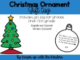 Christmas Ornament Keepsake Tag-Updated for 2020