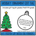 Christmas Ornament Keepsake Tag