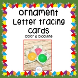 Christmas Ornament Letter Tracing Cards
