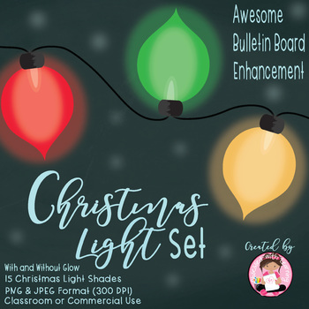 Christmas Ornament Lights Clipart -Classroom or Commercial Use