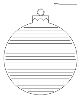 Christmas Ornament Lined Paper