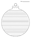 Christmas Ornament Lined Paper - Primary