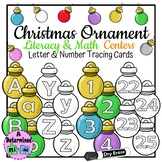 Christmas Ornament Literacy & Math Centers - Letter & Numb