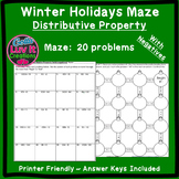 Christmas Activity: Distributive Property (Negatives) Maze
