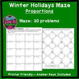 Christmas Activity: Proportions Maze