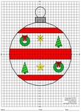 Christmas Ornament, Coordinate Mystery Picture (4 Quadrants)