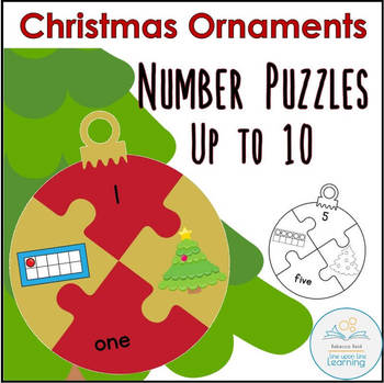 Christmas Ornament Number Puzzles (to 10)