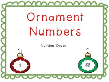 Christmas Ornament Numbers