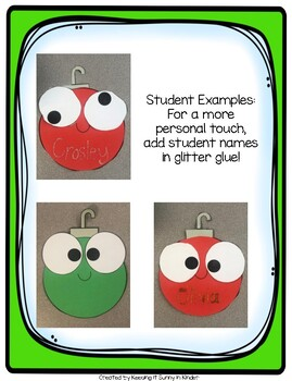 Christmas Ornament! Ornament Craft and Writing Craftivity