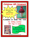 Christmas Cone Ornament - Gift for Parents - PLUS - Language Arts Activity!