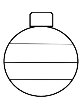 Christmas Ornament Pattern Template